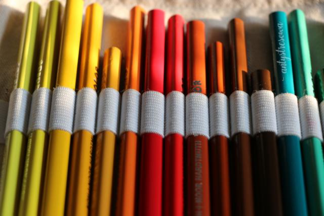 Pierwsze kredki do kolorowania