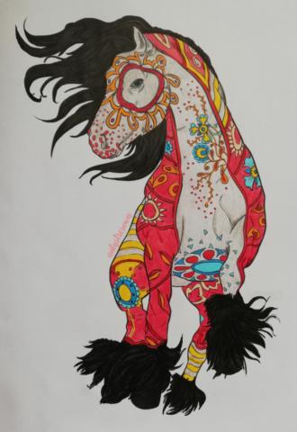 Gotowy rysunek konia - Amazing world of horses