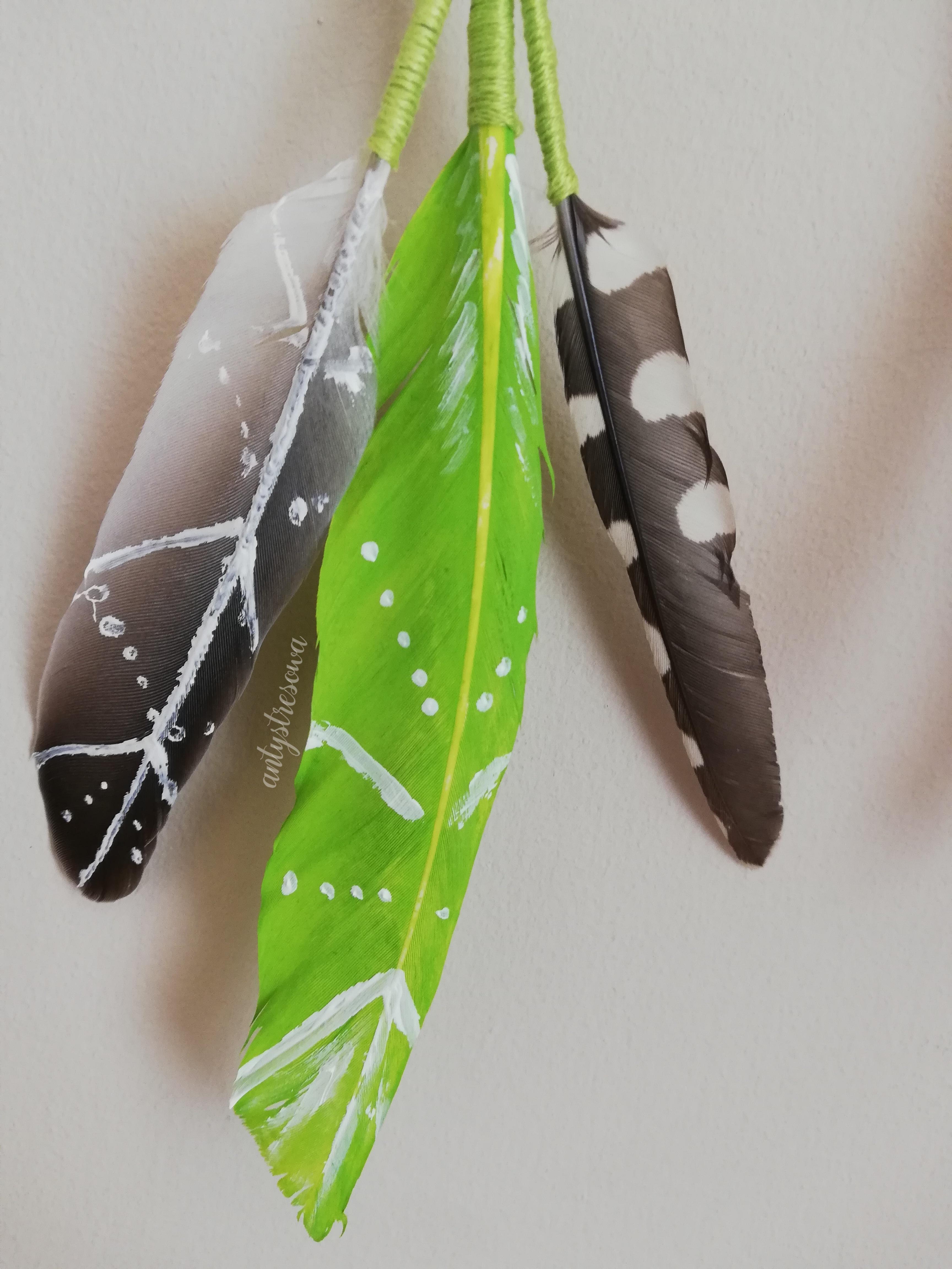 Łapacz snów - pióra naturalne i barwione