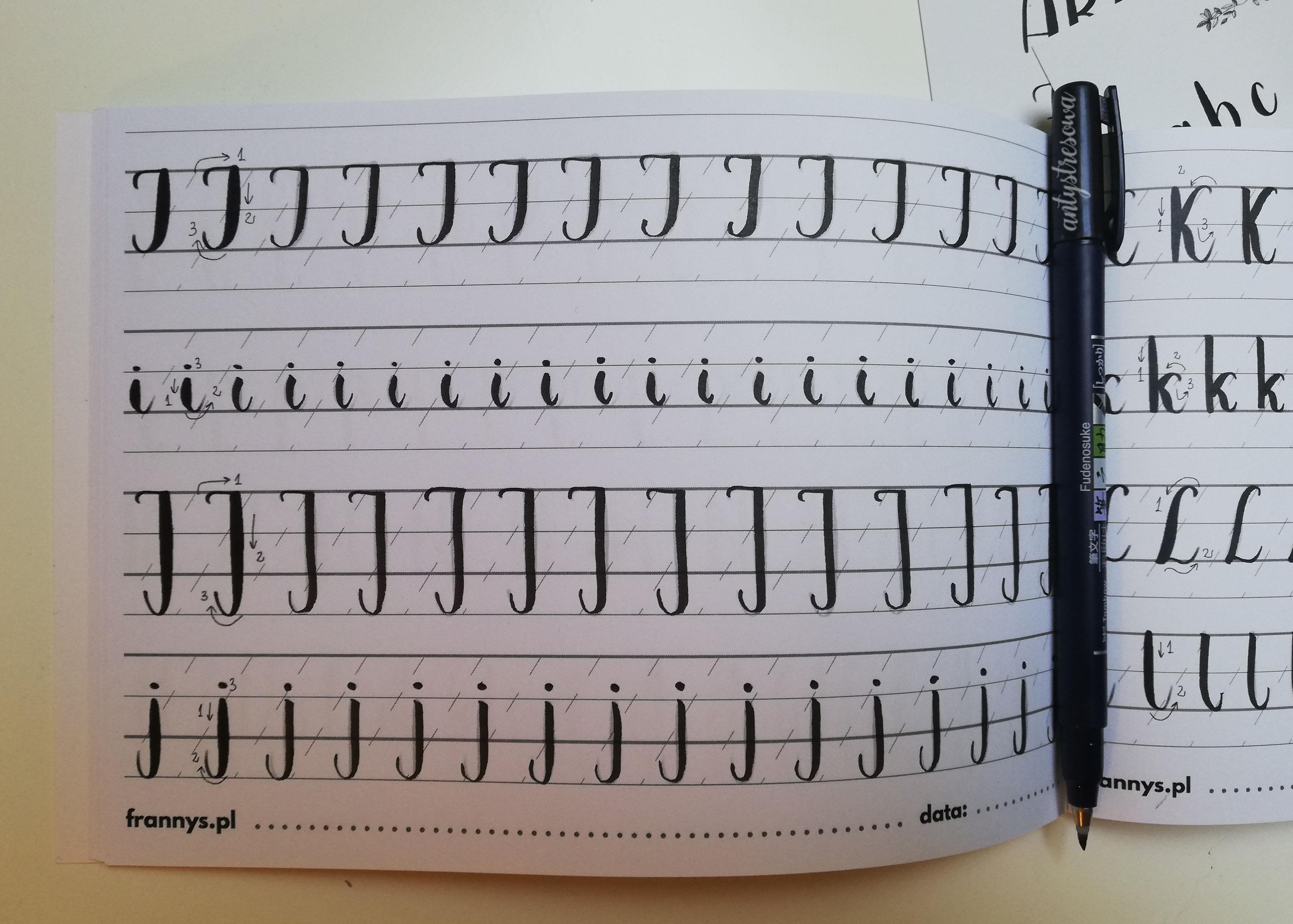 Ćwiczenia kaligrafii