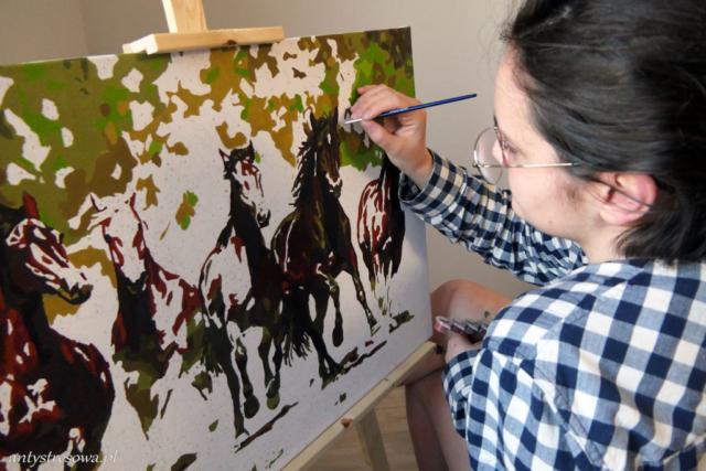 Konie - obraz po numerach