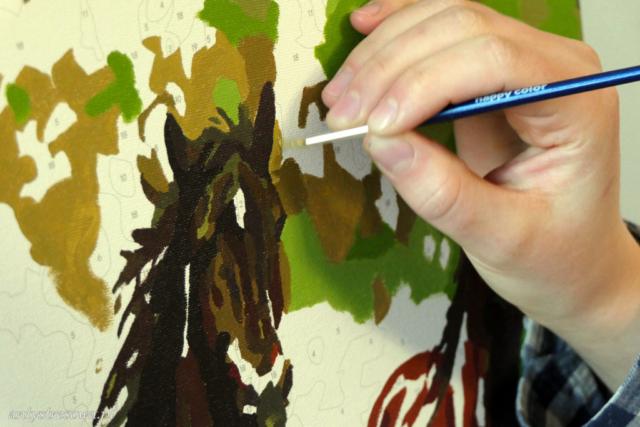 Głowa konia - malowaniepo numerach