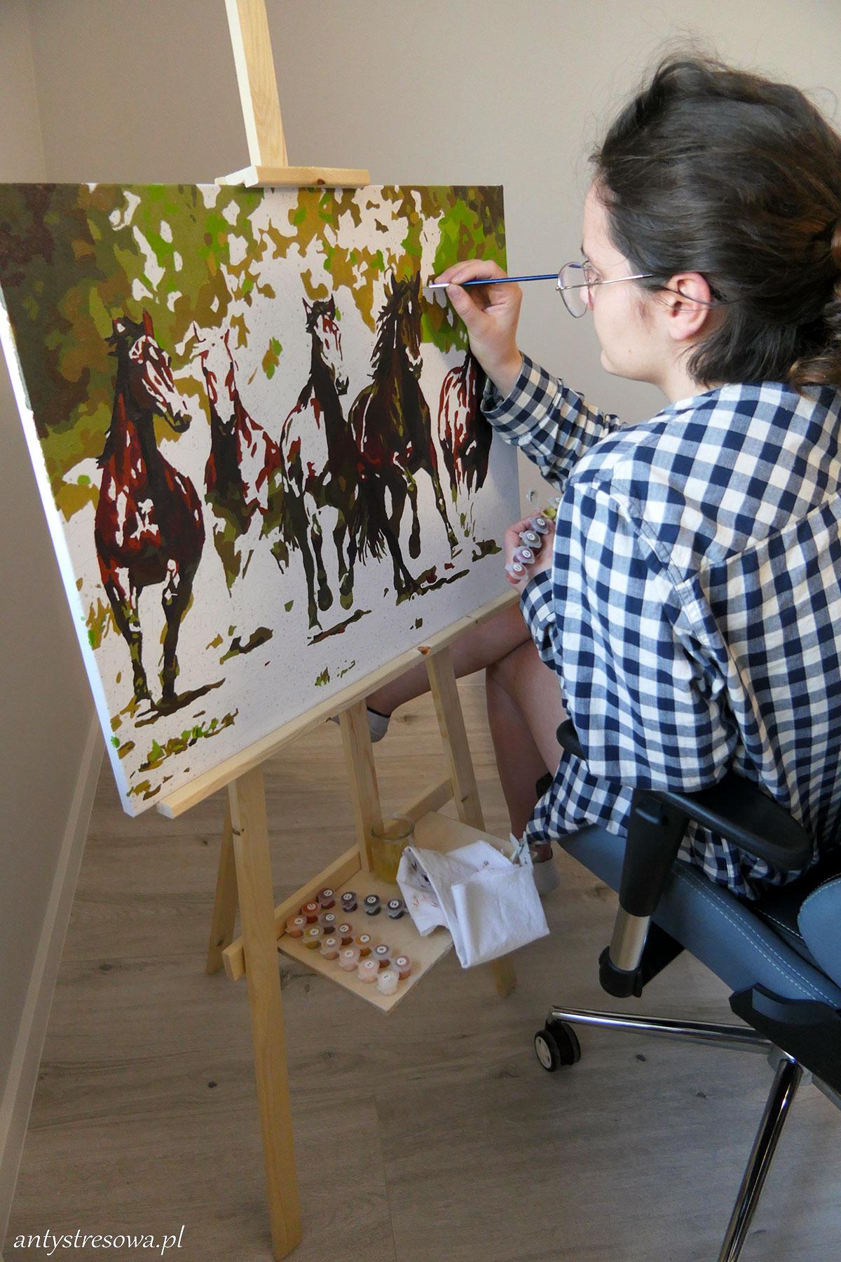 malowanie numerychne - konie