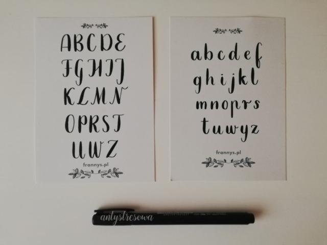 Szablony do kaligrafii - alfabet