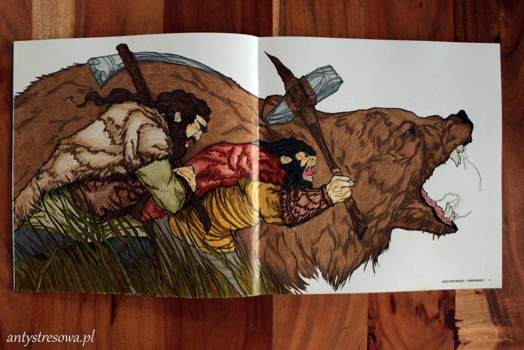 Beorningowie - ludzie niedźwiedzie z książki Bestiarium Tolkiena