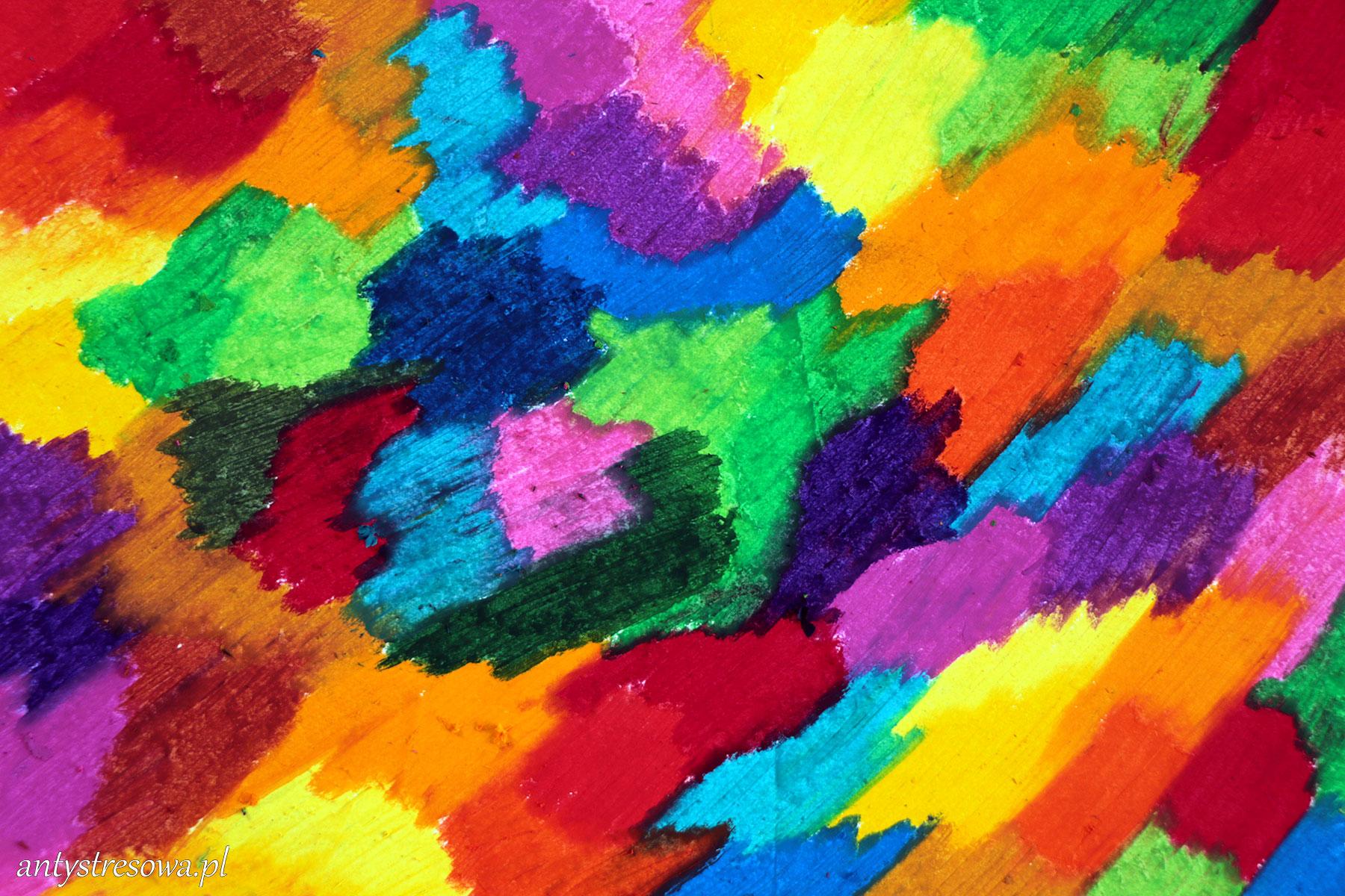 Papier pokryty pastelami olejnymi