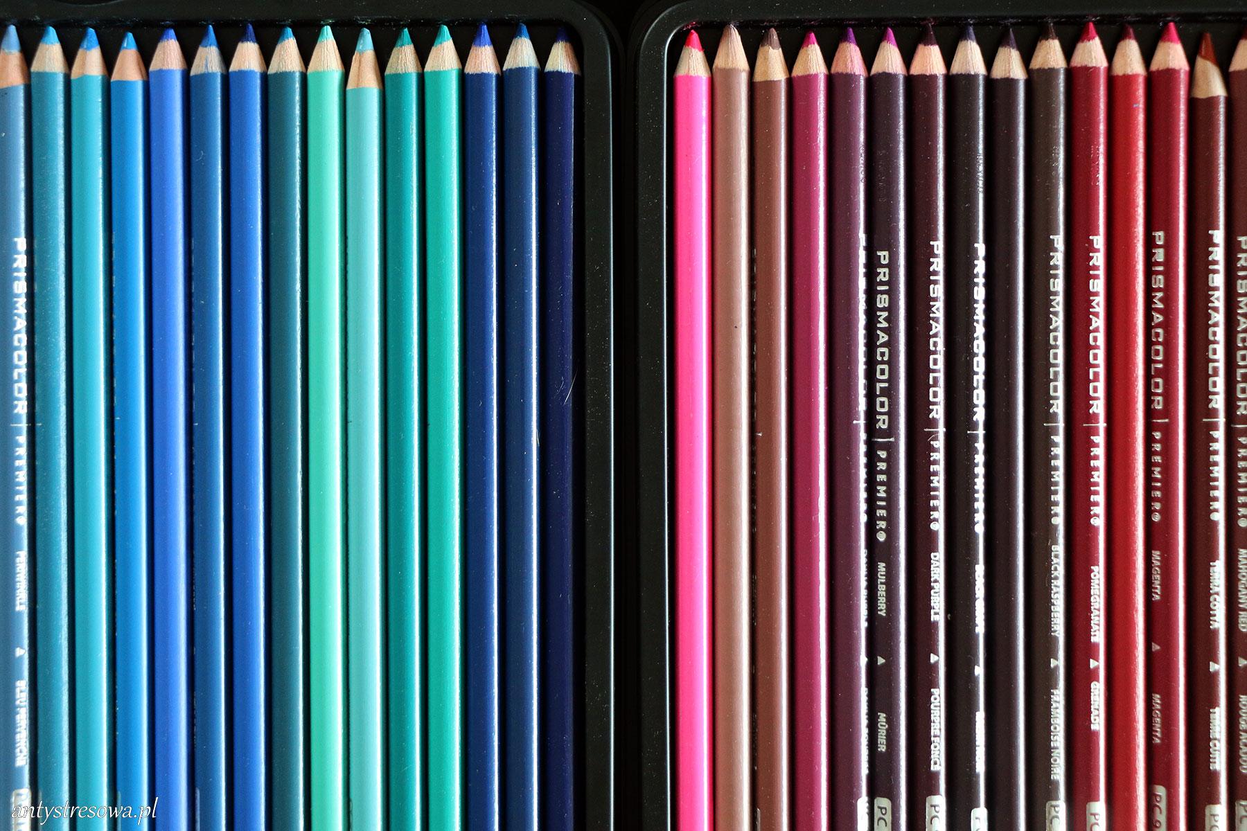 Kredki różowe i niebieskie Prismacolor