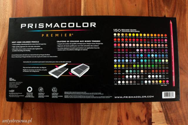 Tył opakowania do kredek prismacolor premier 150 sztuk