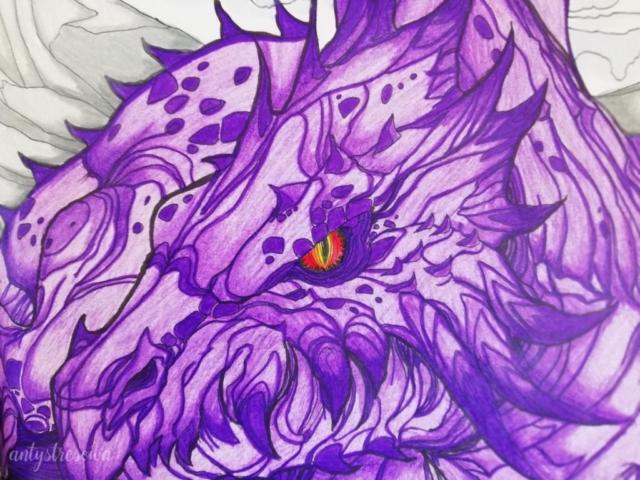Smok - kolorowanka Bestiarium Tolkiena