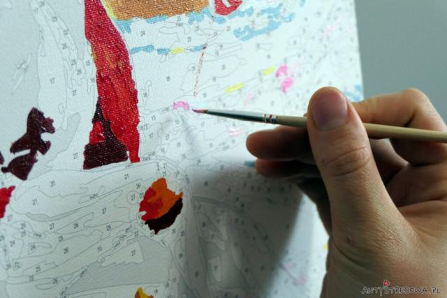 Malowanie po numerach - kanwa