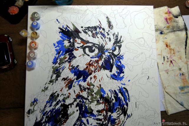Obraz do malowania w trakcie tworzenia