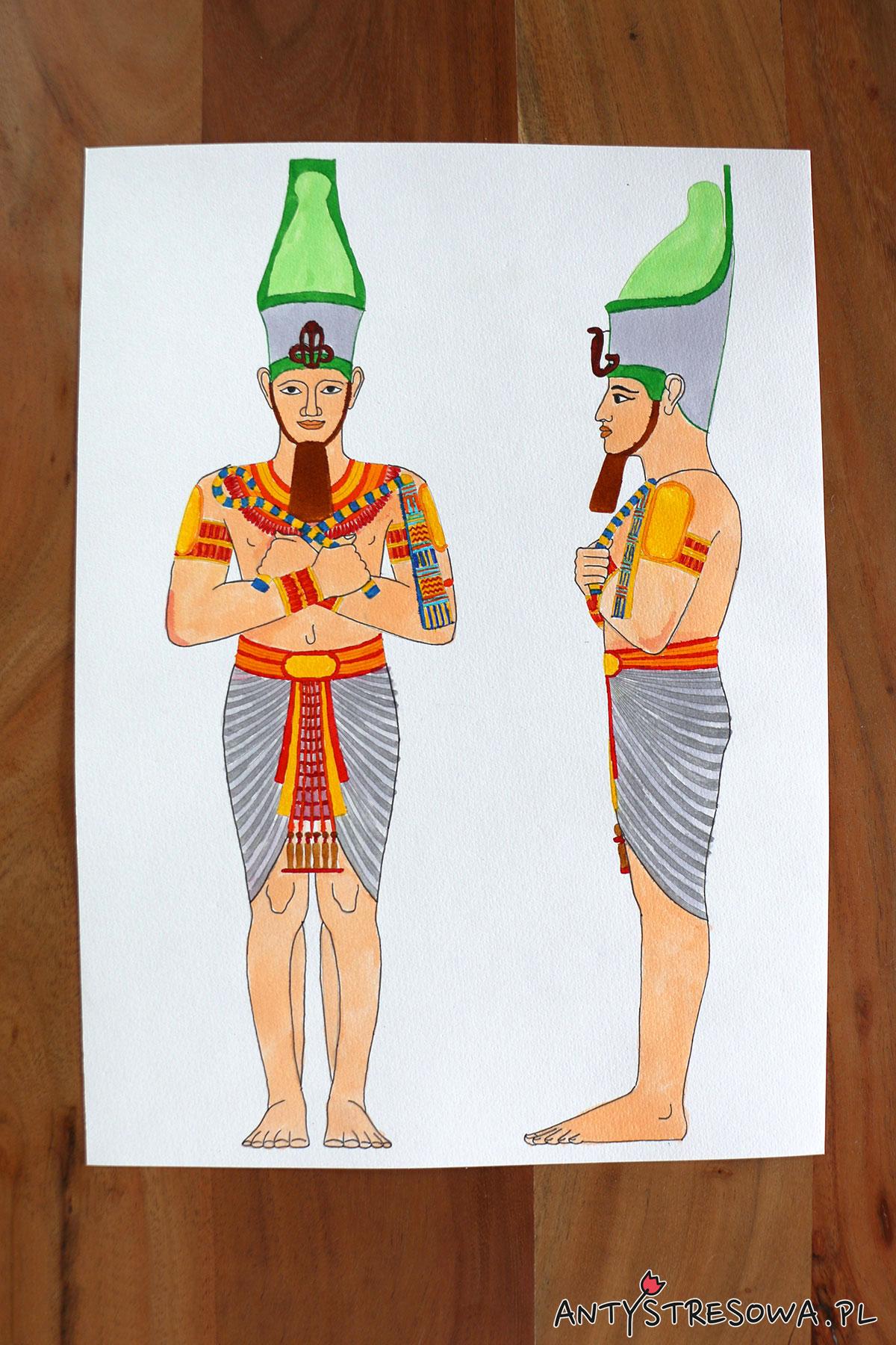 Faraon z kolorowanki Artists' Colouring book Ancient Egypt