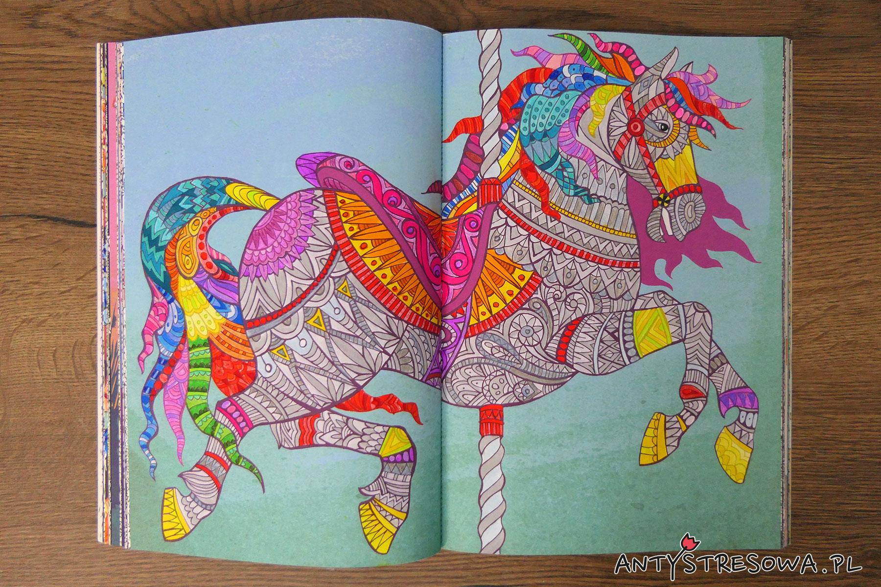 Fantazyjne esy-floresy, kolorowanka antystresowa