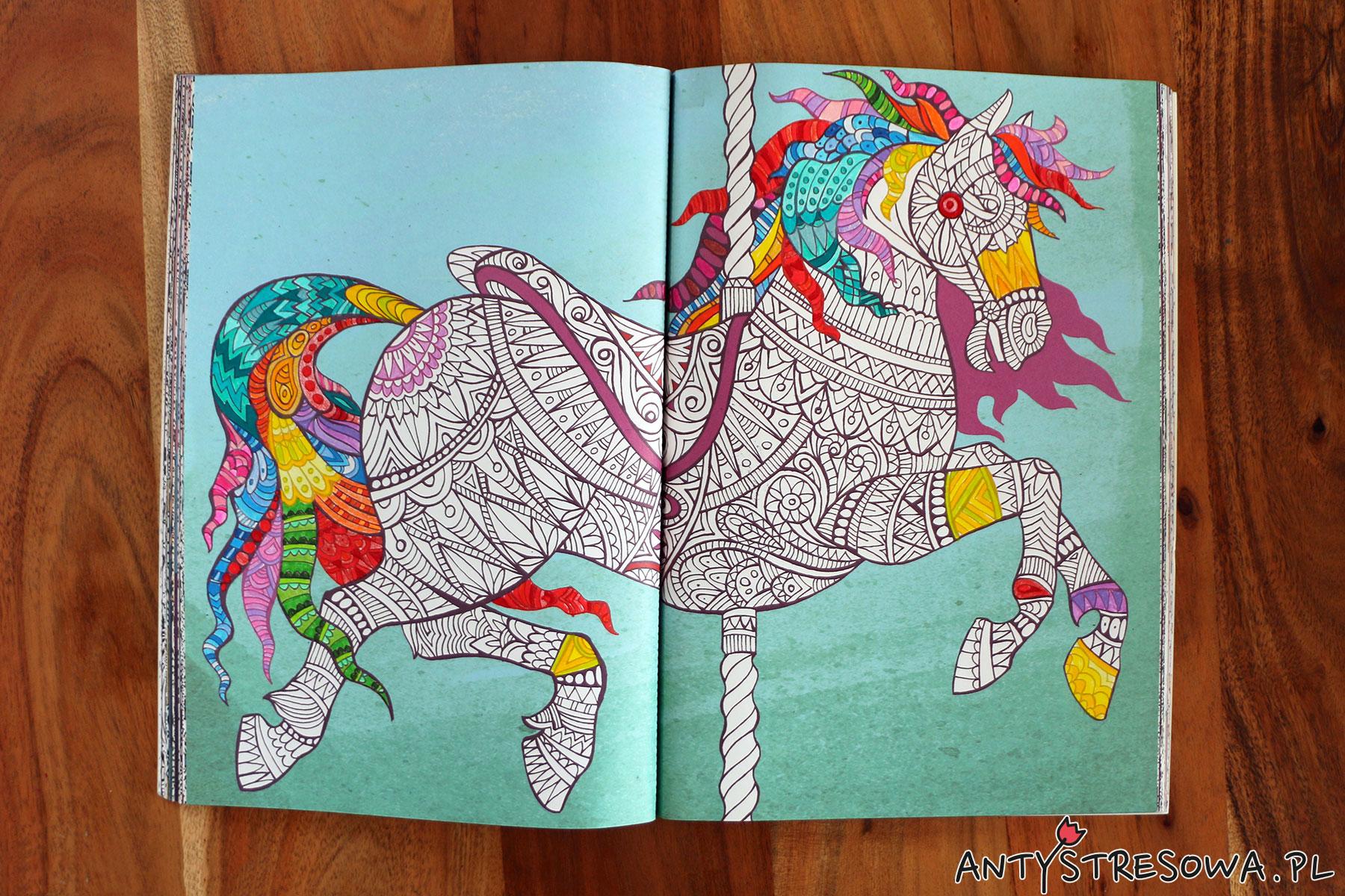 Fantazyjne esy-floresy, kolorowy trening antystresowy