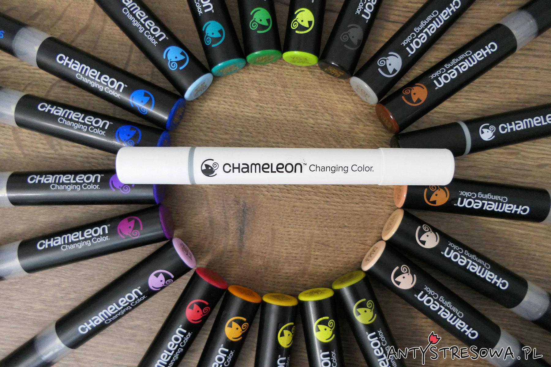 Markery Chameleon 22 sztuki, w tym blender i cienkopis