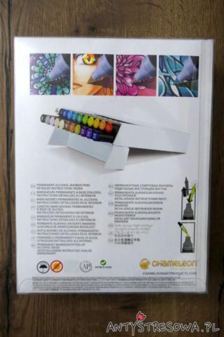 Tył opakowania markerów Chameleon