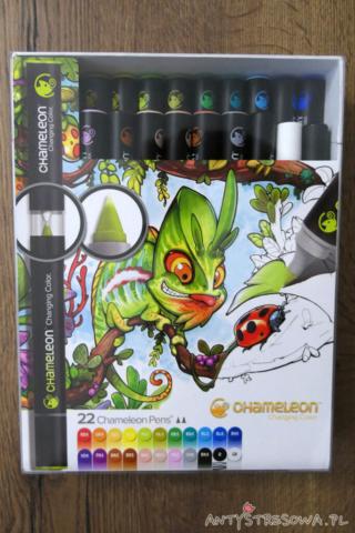 Zestaw 22 markerów Chameleon