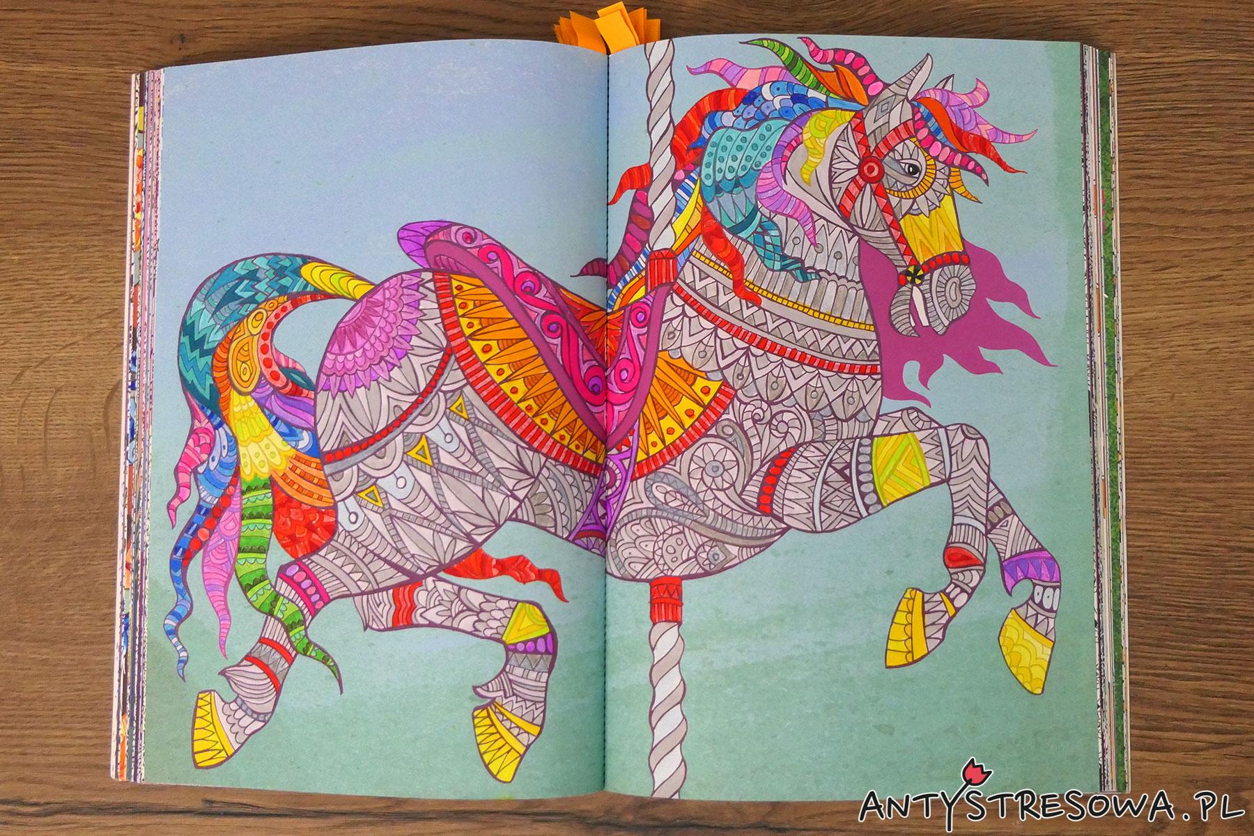 Obrazek z kolorowanki Fantazyje Esy-floresy, pisaki Art & Graphic Twin
