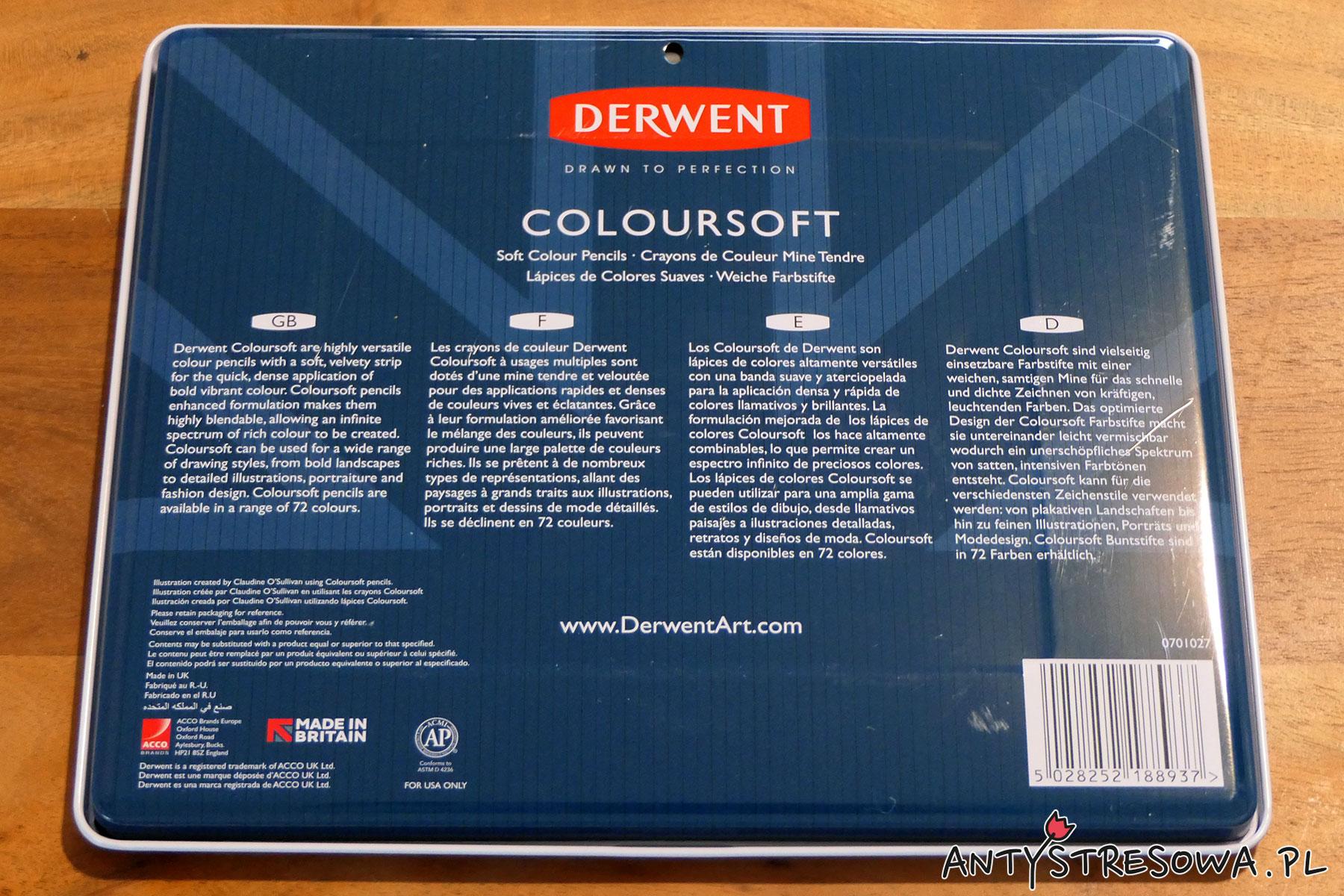 Opakowanie kredek Derwent Coloursft