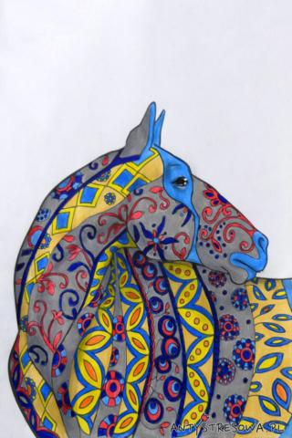 Amazing World of Horses, Cindy Elsharouni - kolorowanka konia