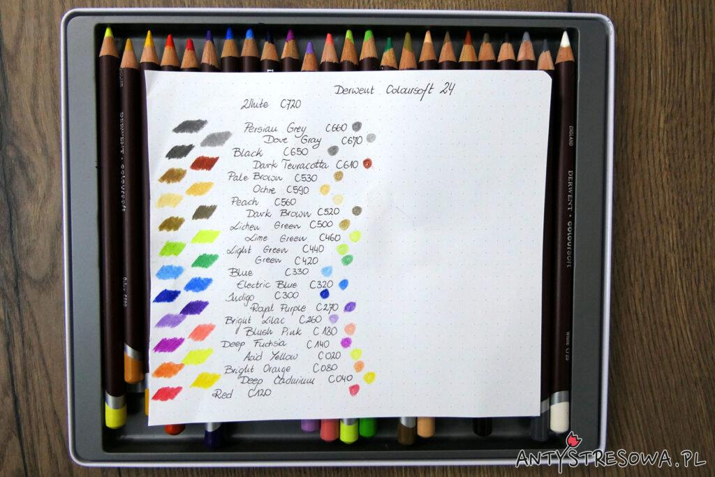 Wzornik kredek Coloursoft