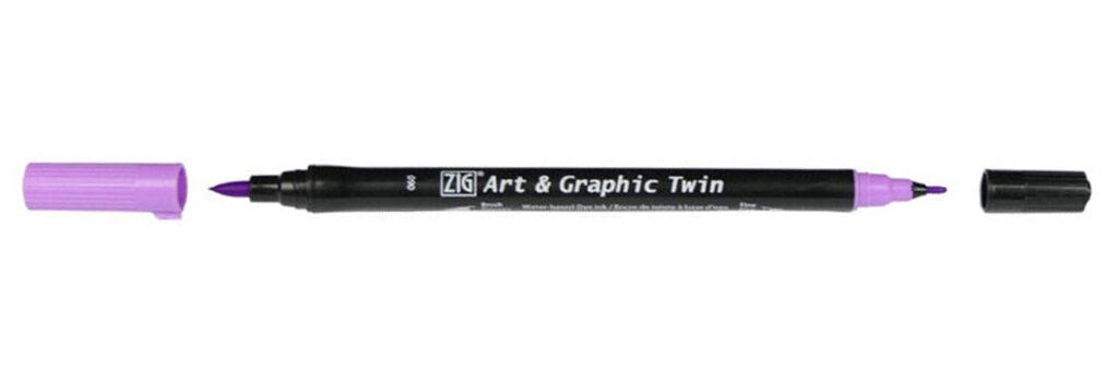 Pisak Kuretake Art & Graphic Twin Light Violet