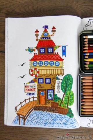 Adult Colouring Book, kredki Derwent Lightfast i Prismacolor Premier