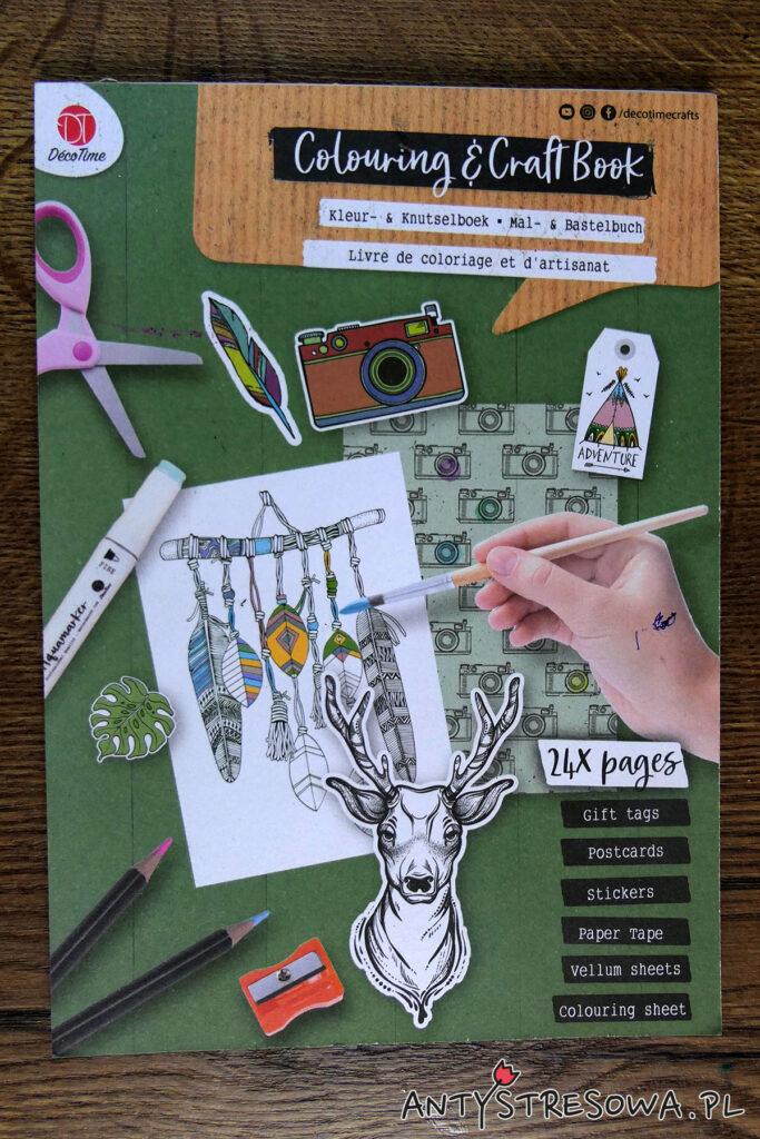 Colouring and Craft Book, Deco Time - okładka