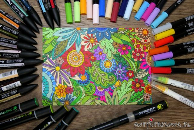Kolorowanie pisakami Clean Color Dot, Art and Graphic Twin i Promarkerami
