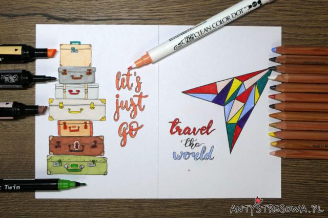 Pocztówki do kolorowania - Derwent Lightfast, Clean Color Dot, Promarkery