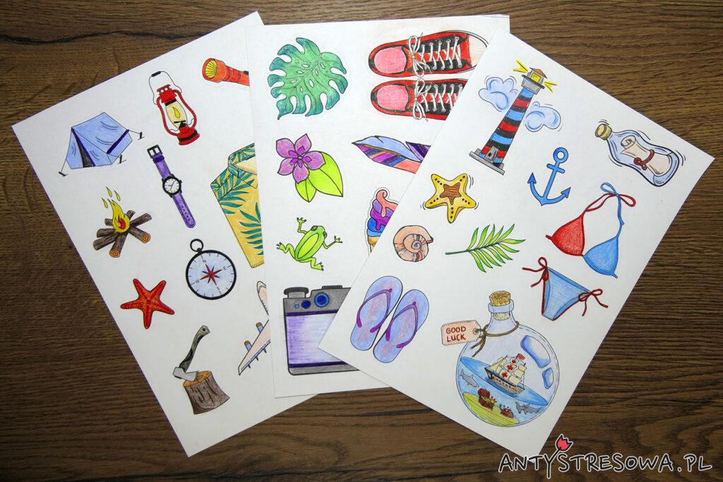 Colouring and Craft Book - arkusze naklejek do kolorowania