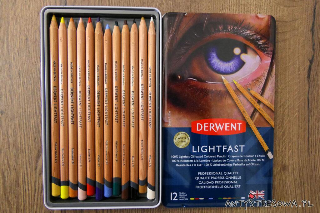 Kredki Derwent Lightfast, 12 sztuk