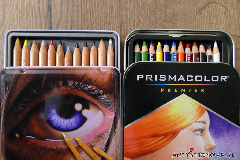 Porównanie kolorów z zestawu 12 sztuk kredek Derwent Lightfast i Prismacolor Premier