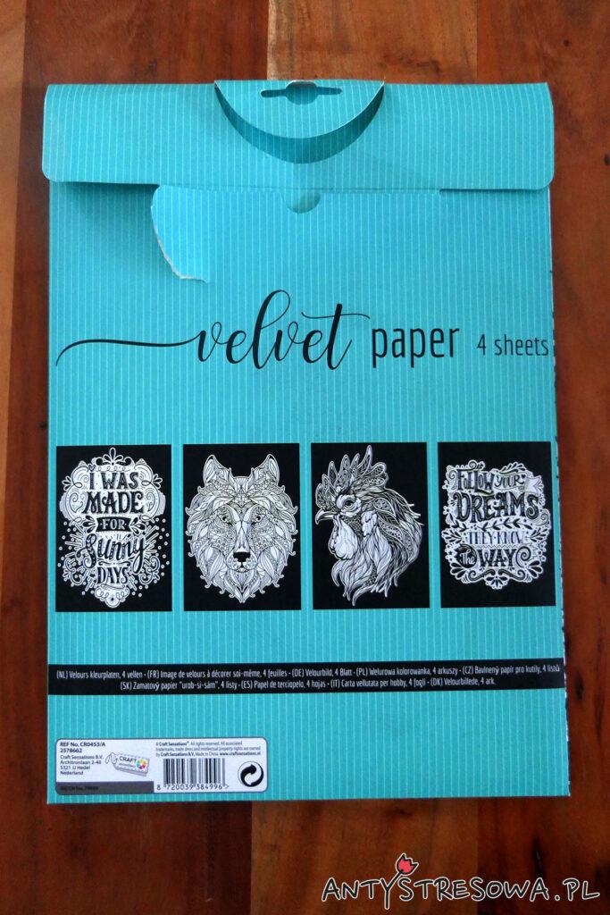 Velvet Paper - welurowe arkusze do kolorowania