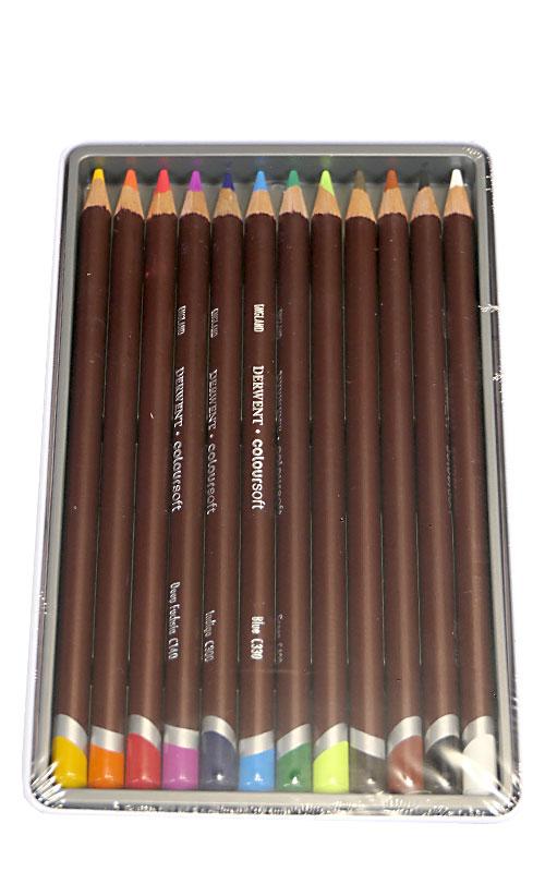12 sztuk kredek Derwent Coloursoft