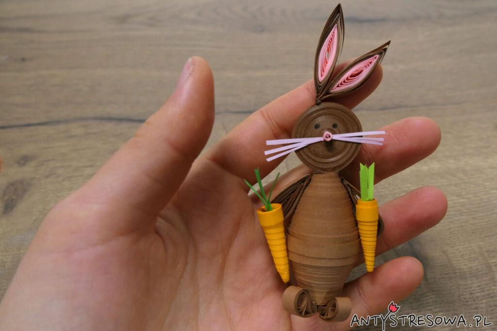 Wielkanocne ozdoby z Quillingu - zające
