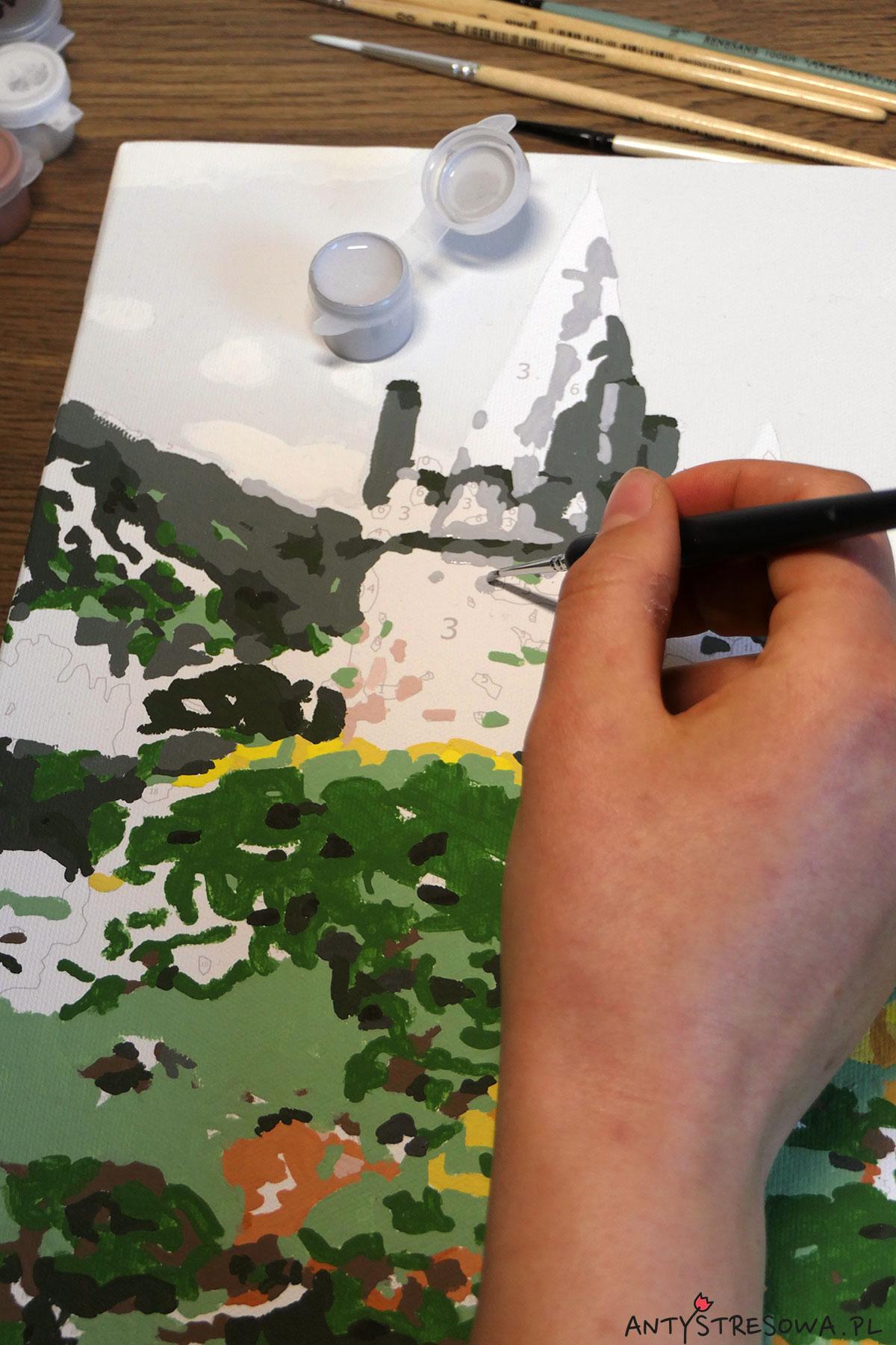 Malowanie obrazu po numerach - zamek