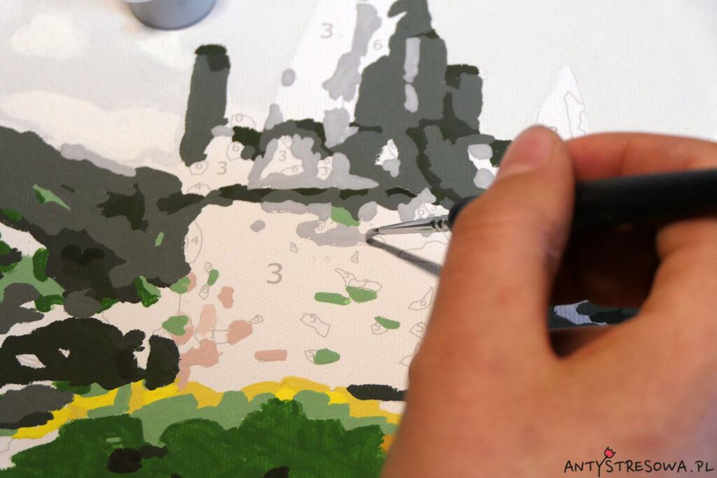 Malowanie zamku po numerach