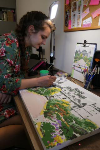 Maluję obraz po numerach ze zdjęcia