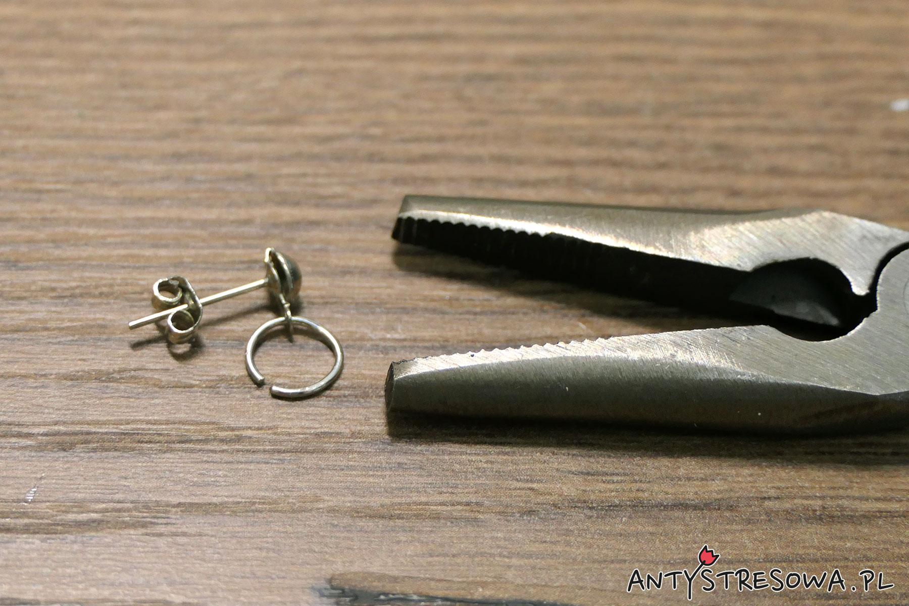 Mocowanie sztyftu do metalowego koła