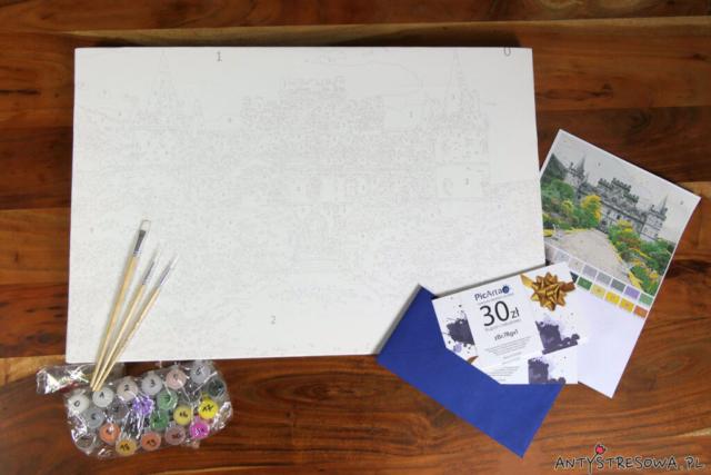 Zestaw do malowania po numerach ze zdjęcia