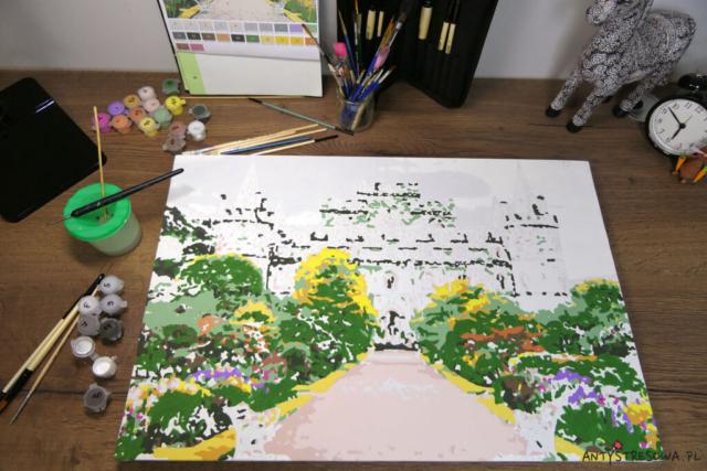 malowanie po numerach z własnego zdjęcia - zamek