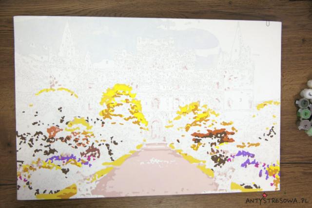 Pola z numerkami na obrazie do malowania ze zdjęcia
