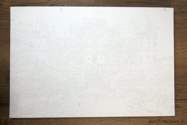 Płotno do malowania po numerach ze zdjęcia
