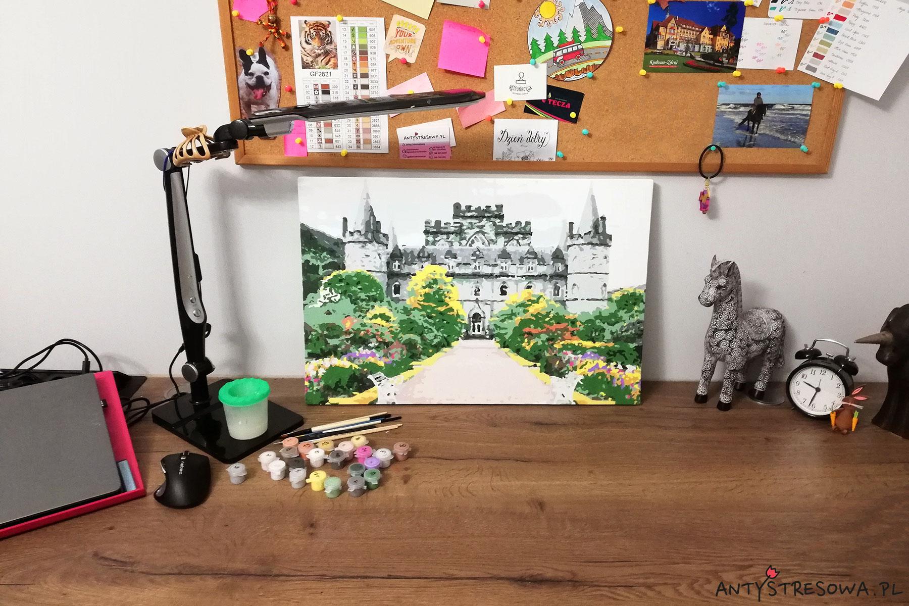 Malowanie po numerach przy biurku