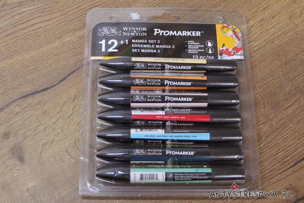 Opakowanie tematycznego zestawu Promarkerów Manga Set 2