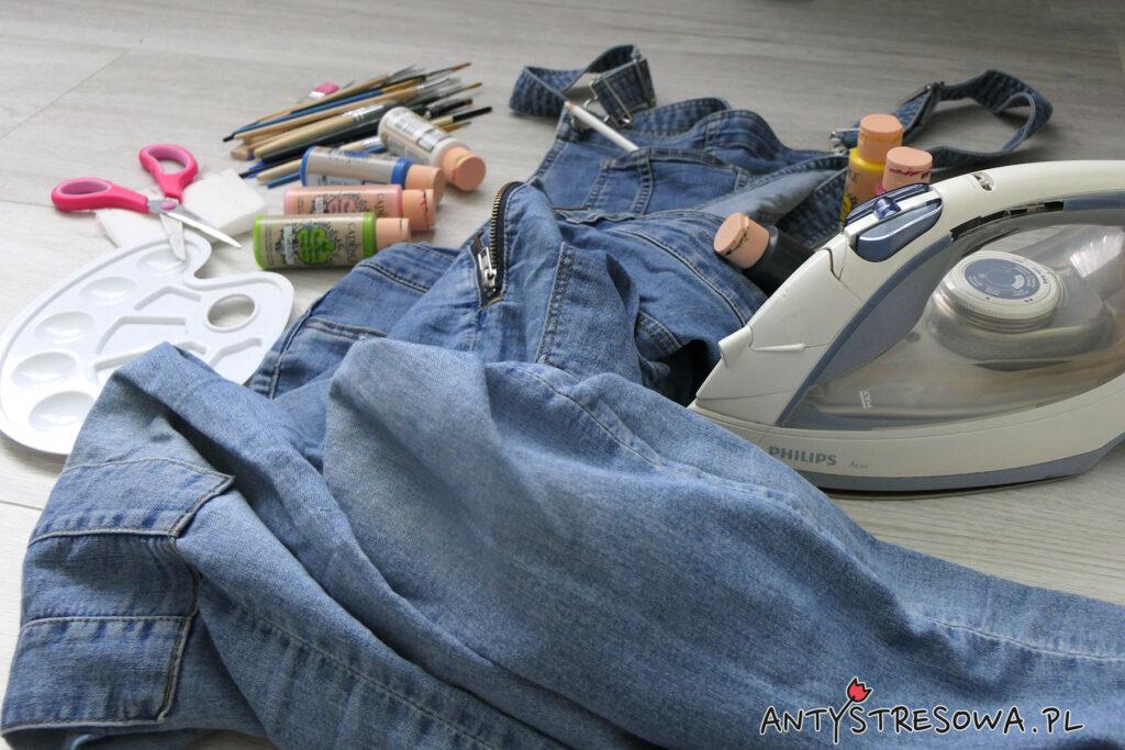 Malowanie jeansów farbami do tkanin - co jest nam potrzebne