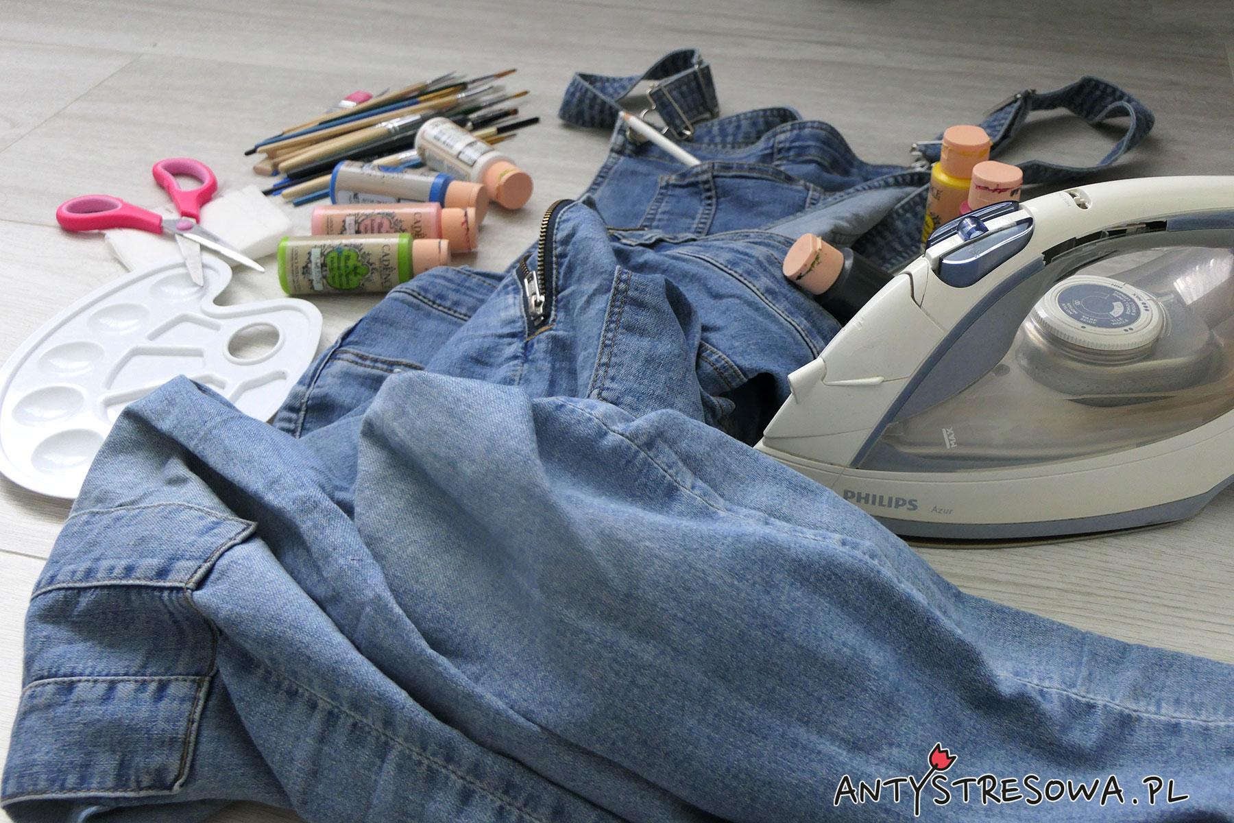 Malowanie jeansów farbami do tkanin - co jest nam potrzebne?