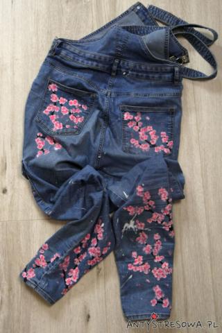 Ręcznie malowane jeansy D.I.Y.