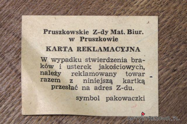 Karta reklamacyjna kredek